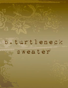 b. turtleneck sweater